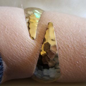 Park Lane Gold Tone Hammered Arm Cuff Metal